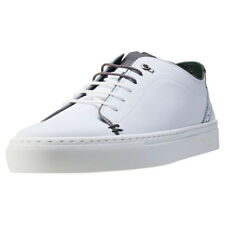 Ted Baker Kiing Mens White Leather Casual Trainers Lace-up Genuine Shoes
