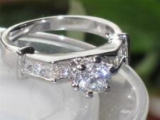 RG1208 LADIES SOLITAIRE PRINCESS SIMULATED DIAMOND RING  ENGAGEMENT SALE