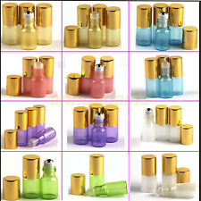 2~~50PCS 3ml Glass Roll on Bottles Essential Oil Perfume Metal or Glass Roller&