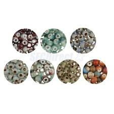 100pcs Retro 6mm Porcelain Round Spacer Loose Beads for DIY Jewelry Making