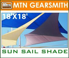 NEW MTN 18'x18' RECTANGLE SQUARE SUN SAIL SHADE CANOPY TOP COVER - CHOOSE