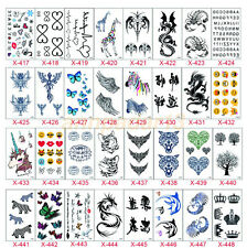 Black Love & Letter Transfer Waterproof Temporary Tattoo Body Art Sticker