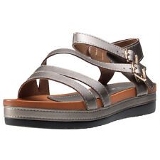 Cardouno Ankle Strap Womens Sandals Gunmetal Black New Shoes