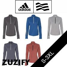 Adidas Golf Ladies Brushed Terry Heather Quarter-Zip Pullover. A275