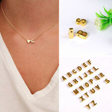 Womens 26 Letter Pendant Alphabet Necklace Heart-shaped Jewellery Ladies Chain