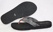 NEW Womens TOMMY HILFIGER Chelses Black White Polka Dot Flip Flops Sandals Shoes