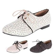 Ballerinas Womens Shoes Fashion Lace Up Casual NEW Canvas Flats sz 4