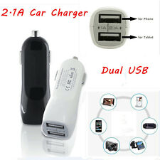 12V Dual USB 2.1A &1A Car Charger 2 Port Adapter For Smart Mobile Cell Phone MP3