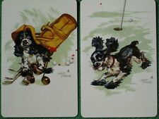 Staehle Butch Cocker Spaniel Works On His Golf Game Swap Cards Vintage Mint WOW