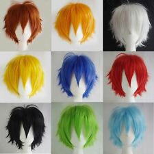 Women Men Hairpiece Straight Short Hair Cosplay Wig Party Full hairpiece New