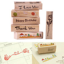 Cute Wood Rubber Mounted Stamp fr DIY Crafts Scrapbooking Card Making Tags Gifts