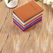 Leather Passport Travel Organizer holder RFID card Case Protector Cover Wallet >
