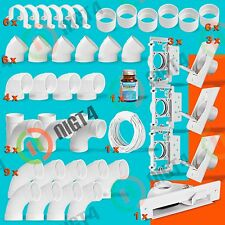 New Central Vacuum 3-Inlet Installation Kit and Vacpan - All White