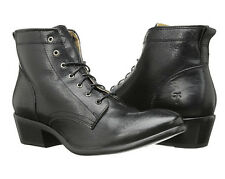 New FRYE Women's Carson Lace Up Ankle Boot Black 6.5