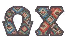 Aztec Tribal Southwestern Greek Sorority NoSew IronOn Letters Alpha Omega A-Z