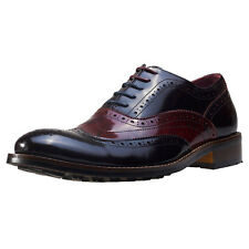 NW1 London Dual Tone Mens Brogues Wine New Shoes