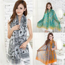Women Girls Voile Vintage Persia veins Scarf Shawl Wrap Stole Soft Scarves lot h