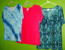 JACLYN SMITH New Cowl Neck Triangle Peek Blouse Choose Color