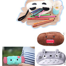 Pencil Bags Makeup Cosmetic Brush Pouch Pen Pencil Case Plush Bag Cute
