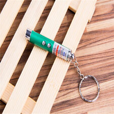 2 IN 1 LASER POINTER PEN FLASH MINI LED TORCH WITH KEYRING CAT TOY KIDS GIFT SP