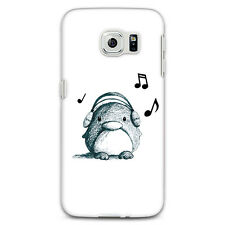 Listen to Music Penguin Case Cover for iPhone 7 Plus Samsung Galaxy S6 S7 Bluela