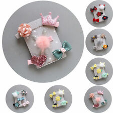 5Pcs/set  Kids Infant Hairpin Baby Girl Hair Clip Bow Flower Mini Barrettes Gift