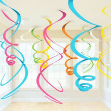 PVC Hanging Swirls Banner Holiday Party Decorations Birthday Wedding Baby Shower
