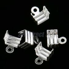 5 Pieces Claw Clasps 925 Silver End Caps for Jewelry Making Findings Connectors