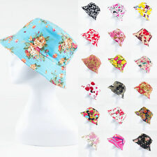 Bucket Canvas Boonie Hat Flower Hunting Summer Fishing Outdoor Caps Unisex NEW