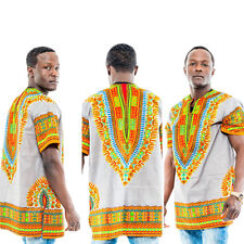 I Mens Printed African National Style Short-sleeved Dress Costumes Dashiki #5106