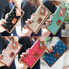 Fashion Women PU Leather Wallet Lady Long Card Holder Handbag Bag Clutch Purse i
