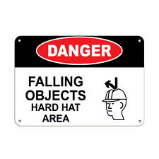 Danger Falling Objects Hard Hat Area Construction Sign Aluminum METAL Sign