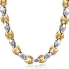 Mariner Link Necklace Mens Chain Stainless Steel Coffee Bead Gold Silver 5mm