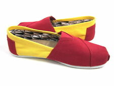 NEW TOMS Classics Slip-ons in RED & YELLOW Canvas,WOMENS - (USC)