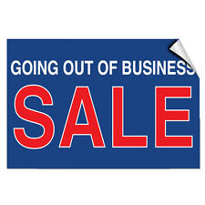 Going Out Of Business Sale Business Store Policy LABEL DECAL STICKER