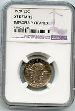 1920 Standing Liberty Silver Quarter XF Details NGC