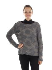 BSB Knitted pullover Leisure sweater Top gray crew neck chunky knitted