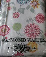 New Raymond Waites Floral fabric colorful cotton 60x84 or 60x 102 Tablecloth NWT