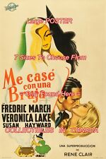 "I MARRIED A WITCH 1942 Case con una Bruja = POSTER CHOOSE FROM 7 SIZES 19"" - 36"""