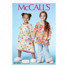 McCalls Girls Easy Sewing Pattern 7496 Banded Top, Dress & Pants (McCalls...