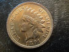 1891 United States Indian Head Cent. Red Uncirculated.