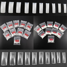 500Pcs Clear French False Nail Art Tips Extension DIY Acrylic UV Gel Decoration
