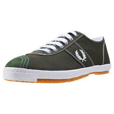 Fred Perry Table Tennis Reissue Mens Green Canvas Casual Trainers Lace-up