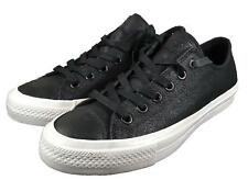 Converse Chuck II by John Varvatos CTAS OX Coated Leather Sneaker BLACK 153895C
