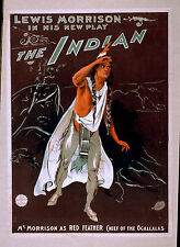 Photo Print Vintage Poster: Stage Theatre Flyer Lewis Morrison The Indian 01