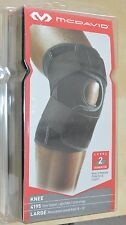 mcdavid multi action knee support wrap level 2 advanced 4195 black size large