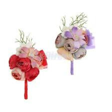 Artificial Flower Wedding Corsage Bridal Groom Boutonniere Party Decor