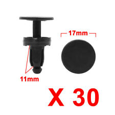 30Pcs Black Plastic Splash Guard Trim Moulding Bumper Clips for 7mm x 7mm Hole