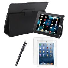 Magnetic Folding Leather Folio Case Cover Stand iPad 1st Gen w/ Screen Protector