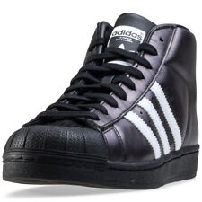 adidas Promodel Womens Black Leather Casual Trainers Lace-up Genuine Shoes